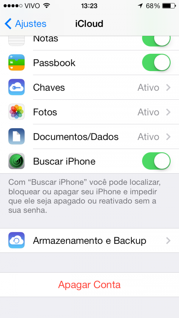 "Desativar o ""Buscar iPhone"""